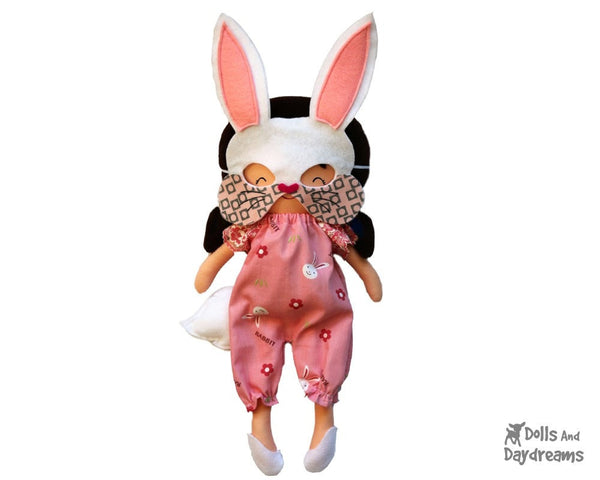 Bunny Mask & Tail Pattern - Dolls And Daydreams - 1