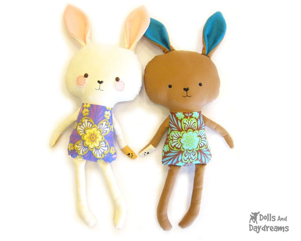 Bunny Rabbit Sewing Pattern - Dolls And Daydreams - 1