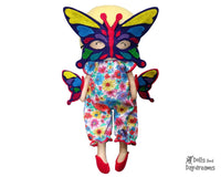 Butterfly Mask & Wing Pattern - Dolls And Daydreams - 1
