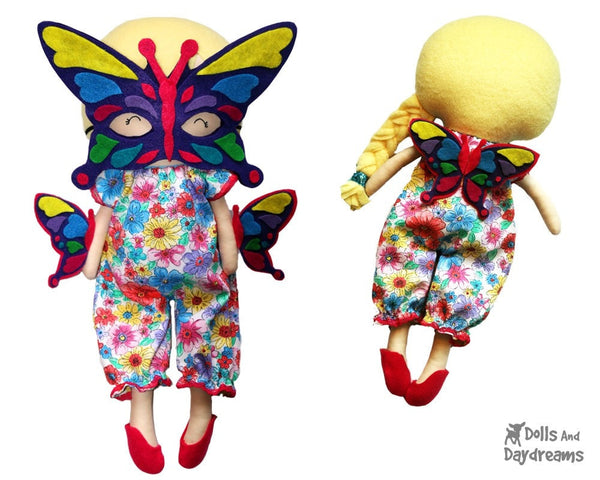 Butterfly Mask & Wing Pattern - Dolls And Daydreams - 4
