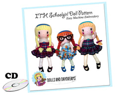 ITH Schoolgirl Doll Pattern - Compact Disc