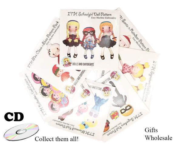 ITH Superhero Doll Pattern - Compact Disc
