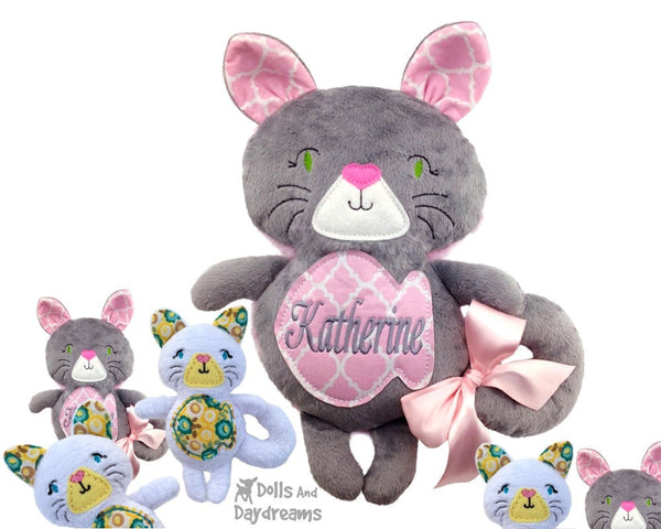 Embroidery Machine Cat Pattern - Dolls And Daydreams - 1