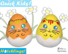 Quick Kids Kitty Cat Hatchling Easter Egg Softie Sewing Pattern Plush Toy by Dolls And Daydreams