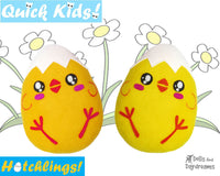 Quick Kids Chick Egg Head Hatchling Easter Egg Softie Sewing Pattern Plush Toy by Dolls And Daydreams