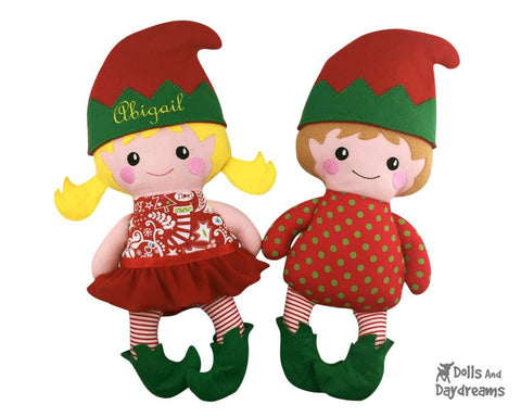 Embroidery Machine Elf Pattern - Dolls And Daydreams - 1