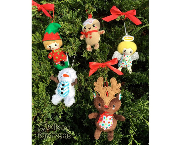 Embroidery Machine Reindeer ITH Pattern - Dolls And Daydreams - 6