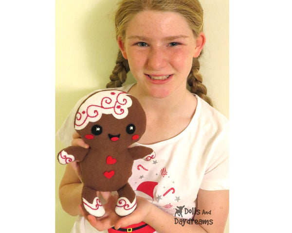 Gingerbread Christmas Pud Sewing Pattern - Dolls And Daydreams - 5