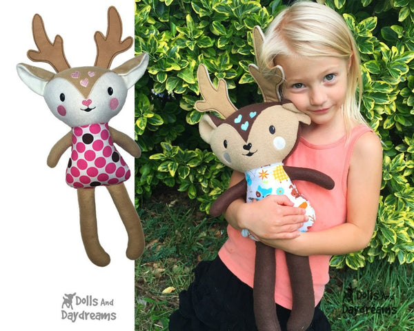 ITH Big Caribou Reindeer Pattern - Dolls And Daydreams - 3