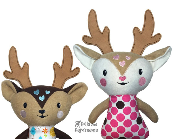 ITH Big Caribou Reindeer Pattern - Dolls And Daydreams - 5