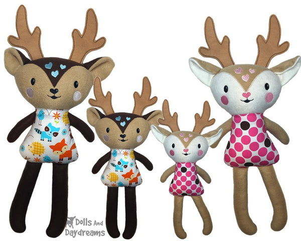 ITH Big Caribou Reindeer Pattern - Dolls And Daydreams - 4