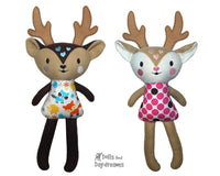 ITH Big Caribou Reindeer Pattern - Dolls And Daydreams - 1