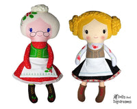 Mrs. Claus & Heidi Doll Sewing Pattern by Dolls And Daydreams