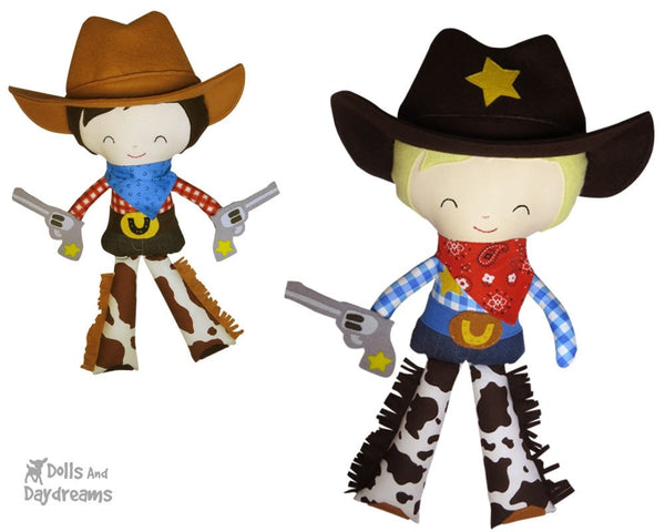 Cowboy Sewing Pattern - Dolls And Daydreams - 1