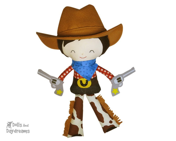 Cowboy Sewing Pattern - Dolls And Daydreams - 3