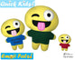 ITH Quick Kids Crazy Emoji Pattern