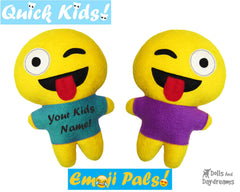 Quick Kids Crazy Emoji Sewing Pattern