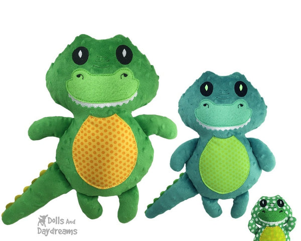 Embroidery Machine Crocodile Gator Pattern - Dolls And Daydreams - 1