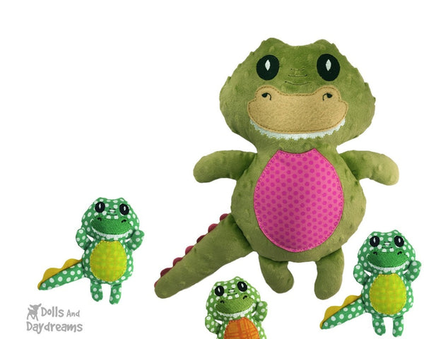 Embroidery Machine Crocodile Gator Pattern - Dolls And Daydreams - 3