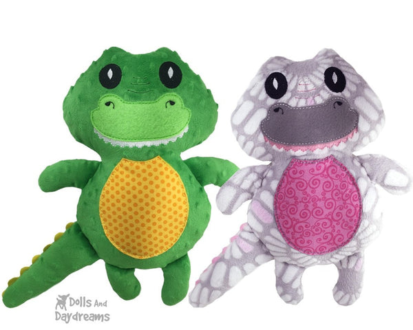 Embroidery Machine Crocodile Gator Pattern - Dolls And Daydreams - 5