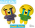Quick Kids Crying Emoji Sewing Pattern by Dolls And Daydreams Easy DIY Soft Toy plushie