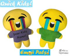 Quick Kids Crying Emoji Sewing Pattern