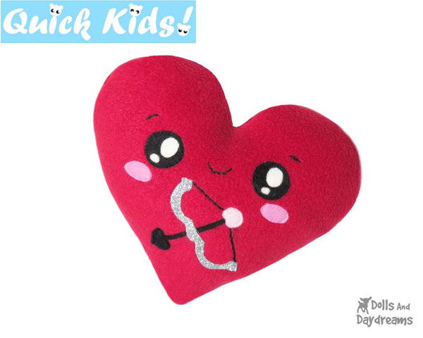 Quick Kids Cupids Heart Sewing Pattern by Dolls And Daydreams