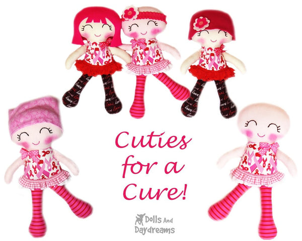 Breast Cancer Doll Sewing Pattern - Cuties for a Cure - Dolls And Daydreams - 2