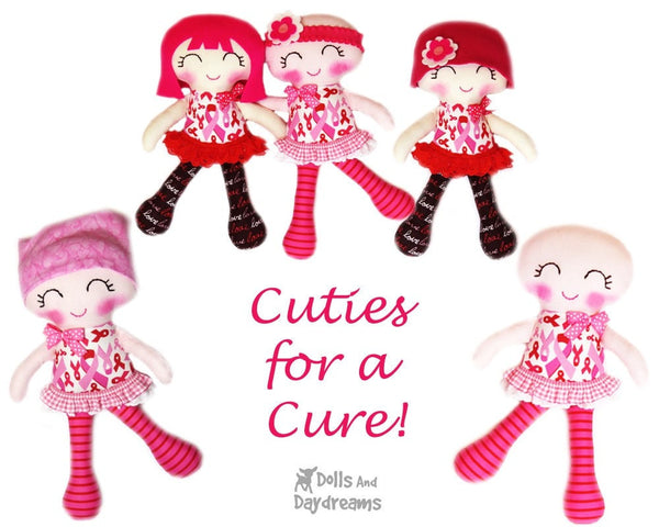 Chemotherapy Doll Sewing Pattern - Cuties for a Cure - Dolls And Daydreams - 4