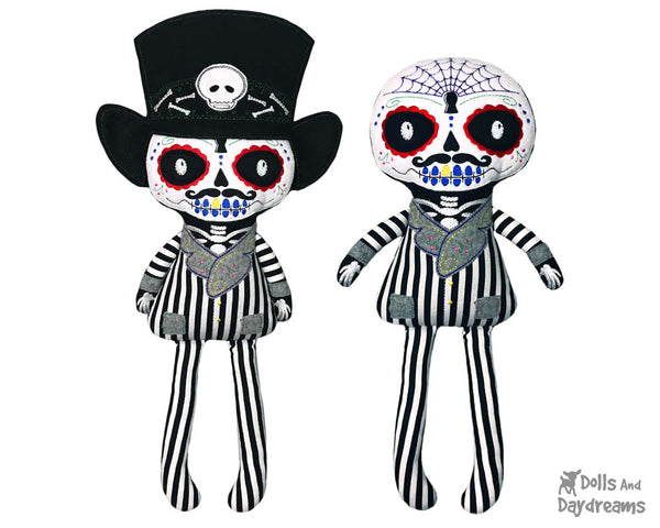 Embroidery Machine Day of the Dead Boy Pattern by Dolls And Daydreams cloth doll diy plush