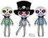 Day of the Dead Boy Sewing Pattern by Dolls And Daydreams cloth doll diy tutorial