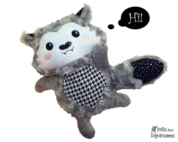 Embroidery Machine Wolf Pup Pattern - Dolls And Daydreams - 5