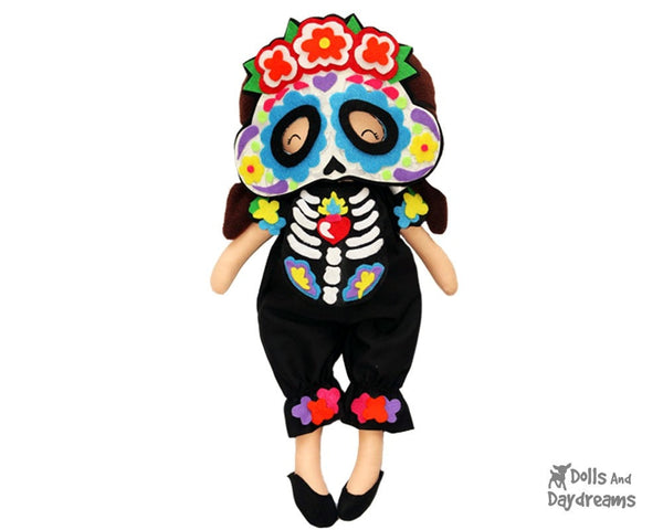 Sugar Skull Mask & Necklace Pattern - Dolls And Daydreams - 1