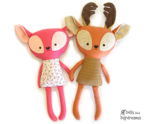Fawn and Deer Sewing Pattern - Dolls And Daydreams - 1