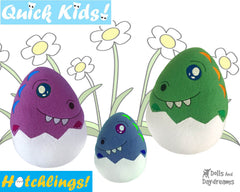 ITH Quick Kids Dino Hatchling Pattern
