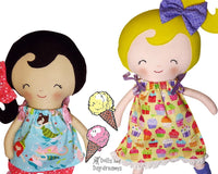 Ribbon Tie Dress & Top Sewing Pattern - Dolls And Daydreams - 1