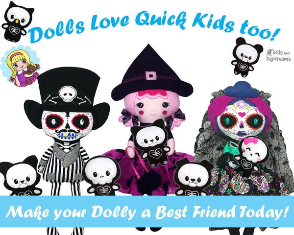 ITH Quick Kids Skelly Wolf Pattern