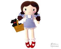 Machine Embroidery Dorothy Doll Pattern