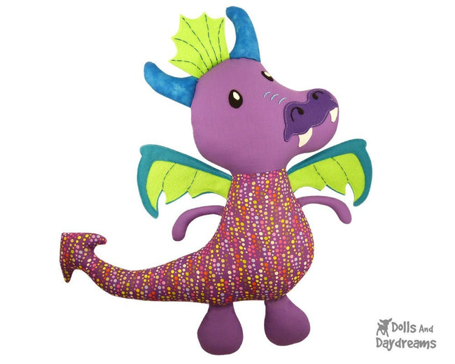 Dragon Sewing Pattern Dolls And Daydreams