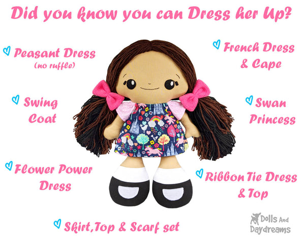 Dress you doll up in these doll clothes sewing patterns today!