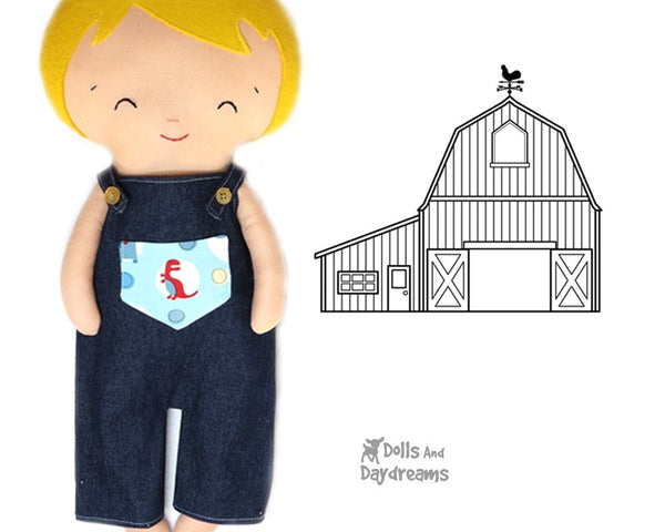Dungarees & Overall Shorts Double Pack Sewing Pattern - Dolls And Daydreams - 1