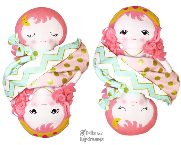Topsy Turvy Doll Sleeping Beauty Sewing Pattern - Dolls And Daydreams