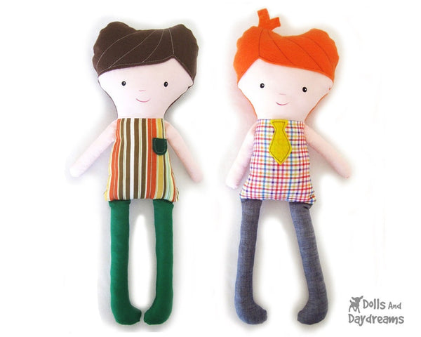 Easy Boy Doll Sewing Pattern - Dolls And Daydreams - 1