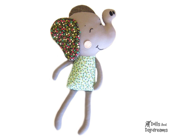 Elephant Sewing Pattern - Dolls And Daydreams - 1