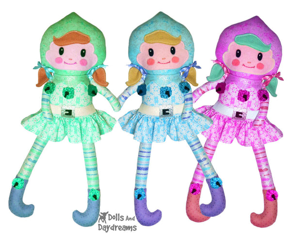 Enchanted Elf Sewing Pattern by Dolls And Daydreams girl elves diy