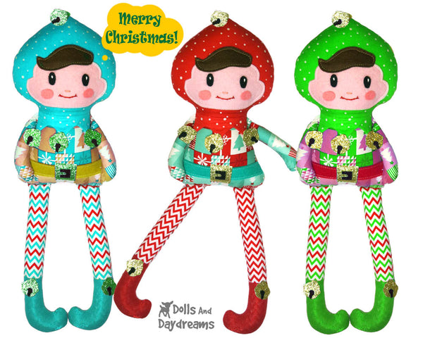 Enchanted Elf Sewing Pattern by Dolls And Daydreams boy elves diy