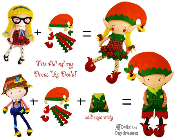Elf Clothes Sewing Pattern - Dolls And Daydreams - 3