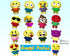 ITH Quick Kids Emoji Doll Plush Pattern DIY Machine Embroidery In The Hoop Toy