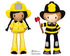ITH Firefighter Pattern machine embroidery fireman doll by dolls and daydreams
