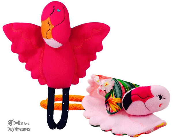 ITH Flamingo Pro Grow with Me Machine Embroidery Baby Blanket Pattern by Dolls And Daydreams
